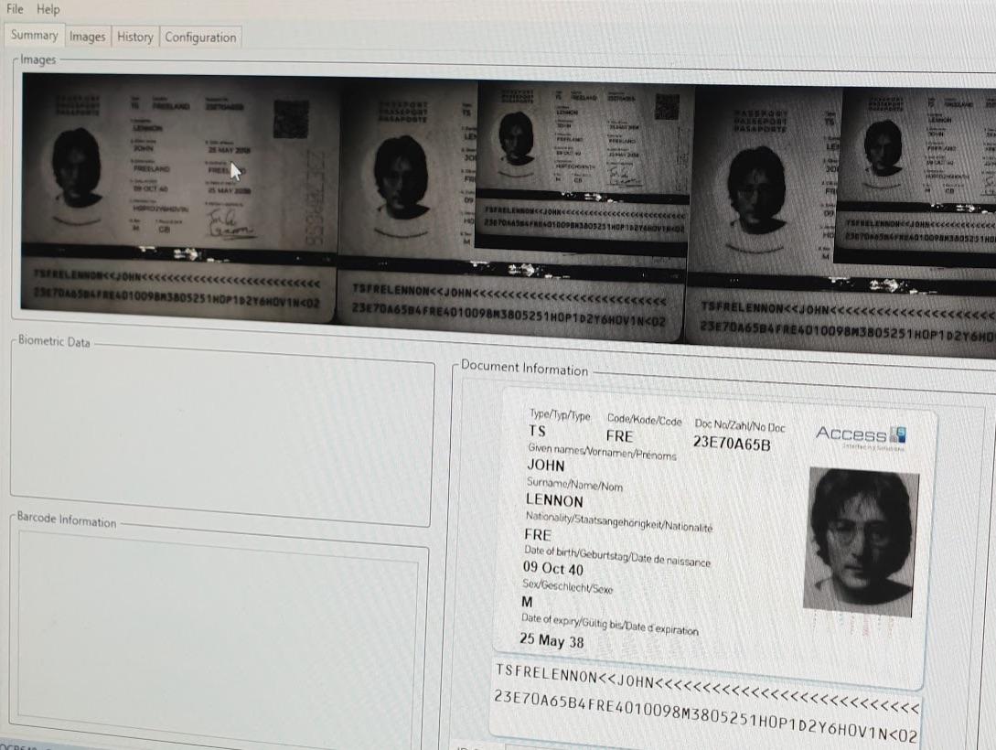 Элементы ИК подсветки паспорта Фриленда