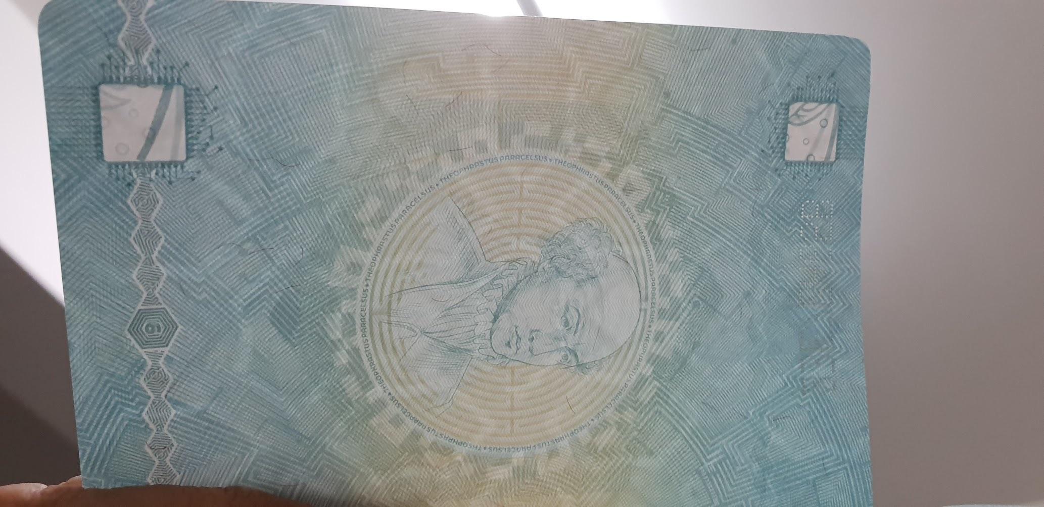Водяные знаки паспорта Фриленда