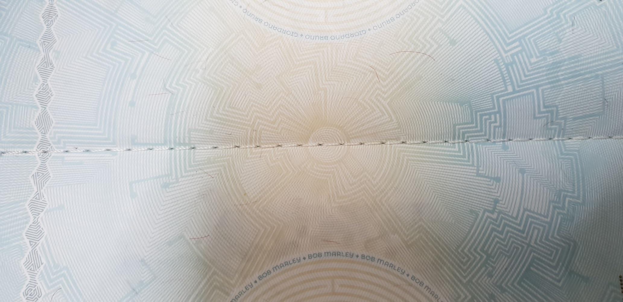 Линия сшивания паспорта Фриленда специальной нитью